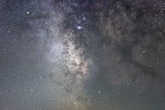Vintergatangalaxsagittarius Kärna av Vintergatan Härlig natthimmel Verklig stjärnklar natt Verklig natthimmel Arkivfoton