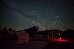 Vintergatanteleskop Arkivfoto