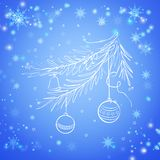 Vintergrön spruce tree för jul Royaltyfri Bild