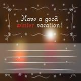 Vinterhälsningskort med suddiga stearinljus Royaltyfri Illustrationer