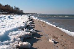 Vinterhavsstrand arkivfoto