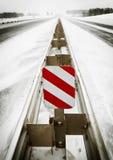 Vinterhuvudväg Arkivfoto