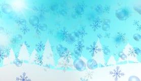 Vinteridyll, de bästa bakgrunderna Arkivbild