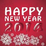 Vinterillustration för lyckligt nytt år Arkivbild