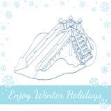 Vinteris-körning också vektor för coreldrawillustration Royaltyfri Foto