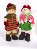 Vinterjul Toy Family Decoration Arkivbild
