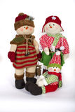 Vinterjul Toy Family Decoration Arkivbilder