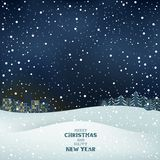 Vinterjulnatt Arkivbilder