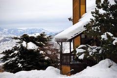 Vinterkabin Arkivbilder