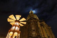 Vinterkafé i Dresden Arkivbild