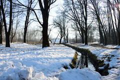 Vinterkanal Arkivfoto