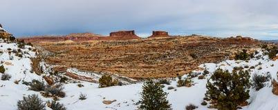 Vinterkanjon i Arizona Fotografering för Bildbyråer