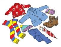 Vinterkläder och tillbehör Arkivfoton