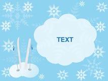 Vinterkort för att skriva texten Royaltyfria Bilder