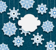 Vinterkort för feriedesign Royaltyfri Bild