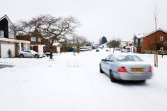 Vinterkörning Royaltyfria Bilder