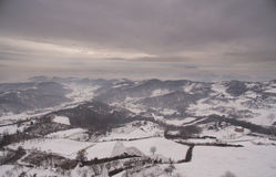 Vinterkullar Arkivbild
