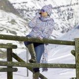 vinterkvinna royaltyfri foto
