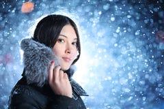 vinterkvinna Arkivfoto