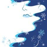 vinterkvinna vektor illustrationer
