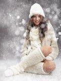 vinterkvinna Arkivbilder