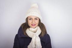 Vinterkvinna Arkivbild