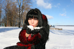 vinterkvinna Royaltyfria Foton