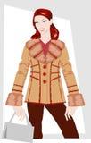 vinterkvinnor för kläder s Arkivfoto