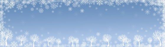 Vinterlandskap Arkivbild