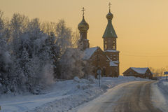 Vinterlandskap. Arkivbilder
