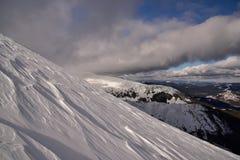 Vinterlandskap av berg Fotografering för Bildbyråer