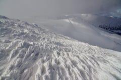 Vinterlandskap av berg Royaltyfria Foton