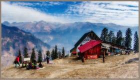Vinterlandskap av Manali Royaltyfria Bilder
