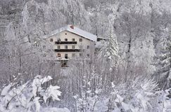 Vinterlandskap från Slovenien, område Zasavje