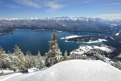 Vinterlandskap i bavaria royaltyfria bilder