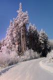 Vinterlandskap i de Ural bergen Royaltyfri Fotografi