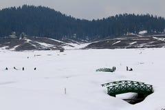 Vinterlandskap i Gulmarg, Kashmir Arkivbilder