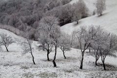Vinterlandskap i mountins Royaltyfri Bild