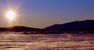 Vinterlandskap i Norge på solnedgången royaltyfri foto