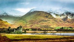 Vinterlandskap i Skottland royaltyfria foton