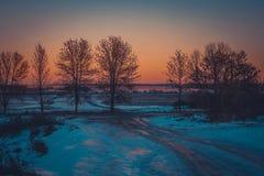 Vinterlandskap i snönatur Royaltyfri Foto