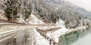 Vinterlandskap Japan royaltyfria foton