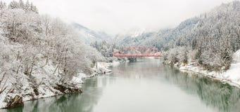Vinterlandskap Japan Royaltyfria Bilder