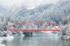 Vinterlandskap Japan royaltyfri foto