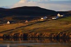 Vinterlandskap på Shetland öar Royaltyfria Bilder