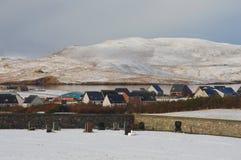 Vinterlandskap på Shetland öar Royaltyfria Foton