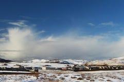 Vinterlandskap på Shetland öar Royaltyfri Foto