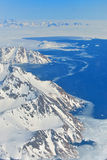 Vinterlandskap - panorama på nordpolen Royaltyfria Foton