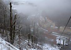 Vinterlandskap Rose Valley Royaltyfri Bild