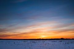 Vinterlandskap. Sammansättning av naturen arkivfoton